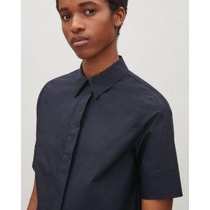 COS button down shirtdress